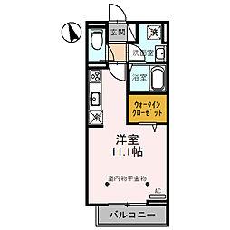Sakura 3階ワンルームの間取り