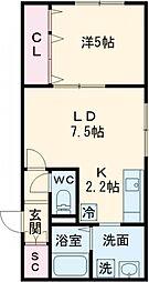 LA Conforto Chitose (ラ コンフォルト チトセ) 3階1LDKの間取り