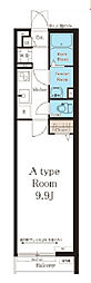 JR東西線 加島駅 徒歩3分の賃貸アパート 1階1Kの間取り