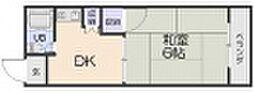 谷口コーポ 3階1DKの間取り