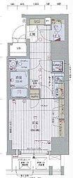 Osaka Metro谷町線 中崎町駅 徒歩8分の賃貸マンション 8階1Kの間取り