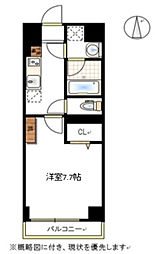 JR宇野線 大元駅 徒歩7分の賃貸マンション 1階1Kの間取り