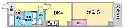JR東海道・山陽本線 神戸駅 徒歩6分の賃貸マンション 2階1DKの間取り