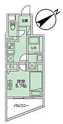 JR山手線 恵比寿駅 徒歩11分の賃貸マンション 1階1Kの間取り