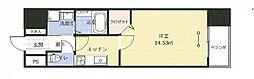 アークデュオ福島万世町 11階1Kの間取り