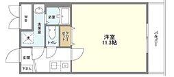 YOSHITOMI 天下茶屋 1階1Kの間取り