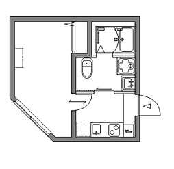 JR京浜東北・根岸線 蕨駅 徒歩8分の賃貸アパート 1階1Kの間取り