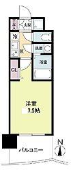 セレニテ日本橋プリエ 15階1Kの間取り