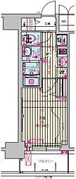 プレサンス天王寺ノースヴィアーレ 3階1Kの間取り