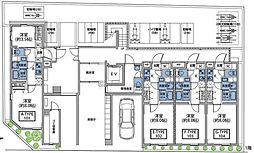 東急東横線 祐天寺駅 徒歩7分の賃貸マンション 1階1Kの間取り