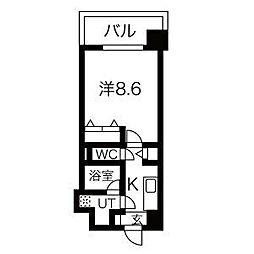 阪急神戸本線 王子公園駅 徒歩9分の賃貸マンション 3階1Kの間取り
