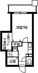 Cosumo Uearata 6階1Kの間取り