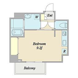 グラフティ 2階ワンルームの間取り