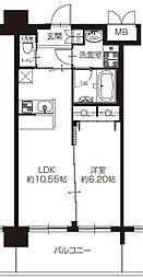 阪急宝塚本線 豊中駅 徒歩7分の賃貸マンション 6階1LDKの間取り