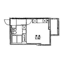 ライフゾーン藤沢 3階ワンルームの間取り