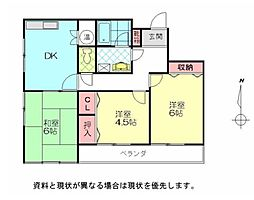 JR日豊本線 別府駅 徒歩20分の賃貸アパート 8階3DKの間取り