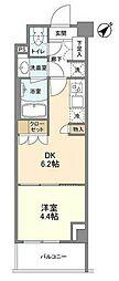JR京浜東北・根岸線 大井町駅 徒歩9分の賃貸マンション 5階1DKの間取り