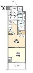 JR京浜東北・根岸線 大井町駅 徒歩9分の賃貸マンション 6階1DKの間取り
