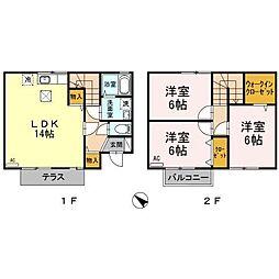 JR信越本線 長岡駅 徒歩13分の賃貸アパート 1階3LDKの間取り