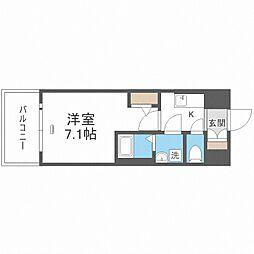 JR大阪環状線 大正駅 徒歩10分の賃貸マンション 7階1Kの間取り