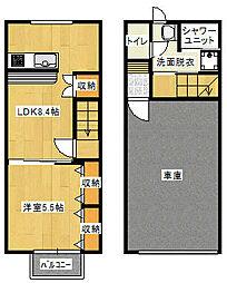 Cube8 1階1LDKの間取り