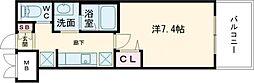JR東海道・山陽本線 尼崎駅 徒歩1分の賃貸マンション 6階1Kの間取り
