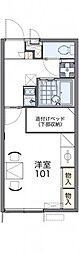 東武日光線 幸手駅 徒歩17分の賃貸アパート 2階1Kの間取り