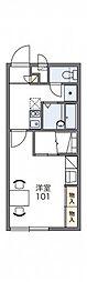 レオパレスディアビレッジ 2階1Kの間取り
