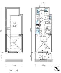 JR山手線 大崎駅 徒歩7分の賃貸マンション 4階1Kの間取り