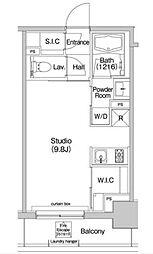 JR山手線 大塚駅 徒歩7分の賃貸マンション 5階ワンルームの間取り