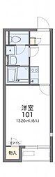 レオネクスト日新福知山 1階1Kの間取り