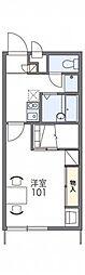 JR陸羽東線 古川駅 徒歩17分の賃貸アパート 1階1Kの間取り