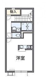 レオネクスト増泉III 2階1Kの間取り