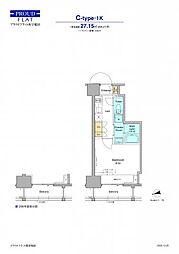 JR山手線 高田馬場駅 徒歩12分の賃貸マンション 5階1Kの間取り