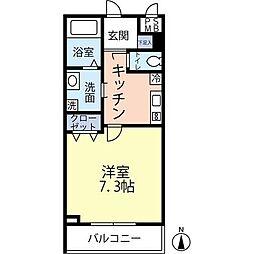 東京メトロ丸ノ内線 四谷三丁目駅 徒歩4分の賃貸マンション 2階1Kの間取り