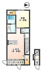 JR東北本線 本宮駅 徒歩10分の賃貸アパート 1階1LDKの間取り