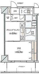 静岡茶町エンブルコート 2階1DKの間取り