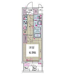 プレサンス谷町九丁目ディセオ 11階1Kの間取り