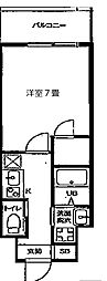 JR大阪環状線 天満駅 徒歩8分の賃貸マンション 4階1Kの間取り
