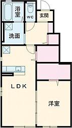 ブリージア東野(仮称) 1階1LDKの間取り
