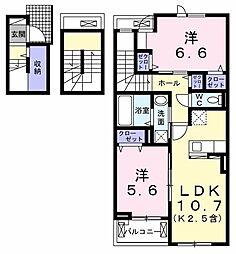 カサレガンテ 3階2LDKの間取り