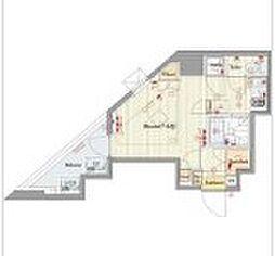 ビバリーホームズ三鷹 10階ワンルームの間取り