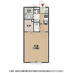 近鉄奈良線 瓢箪山駅 徒歩20分の賃貸アパート 1階1Kの間取り