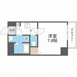 Osaka Metro御堂筋線 中津駅 徒歩13分の賃貸マンション 3階1Kの間取り