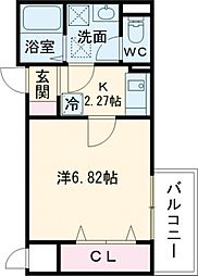 Fstyle 天美東1号館 3階1Kの間取り