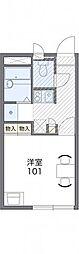 東武日光線 幸手駅 徒歩16分の賃貸アパート 1階1Kの間取り