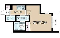 アルム西新宿 1階1Kの間取り
