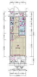 JR大阪環状線 森ノ宮駅 徒歩5分の賃貸マンション 7階1Kの間取り