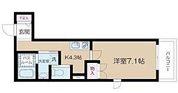 アルム西新宿 3階1Kの間取り