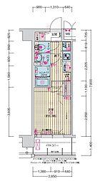 JR大阪環状線 森ノ宮駅 徒歩5分の賃貸マンション 10階1Kの間取り